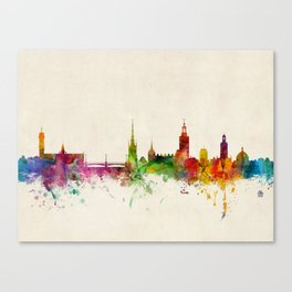 Stockholm Sweden Skyline Canvas Print