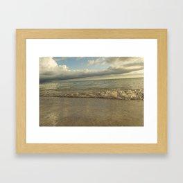 Beach at Sunset Framed Art Print