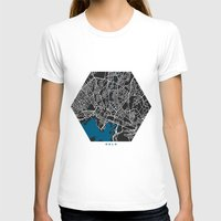 oslo T-shirts featuring Oslo city map black colour by MCartography