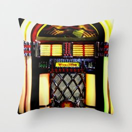 Wurlitzer Jukebox  Throw Pillow