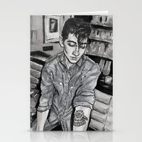 alex turner Stationery Cards featuring Alex Turner tattoo by vooce & kat