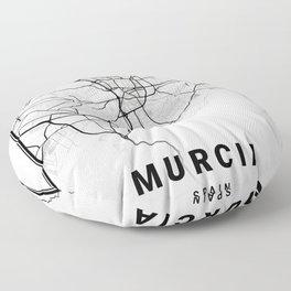 Murcia Light City Map Floor Pillow