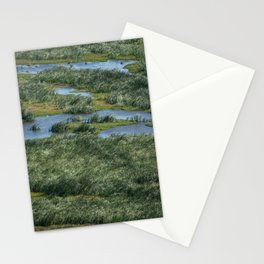 Green beautiful land Stationery Cards