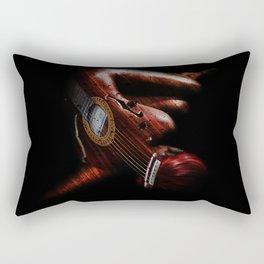 Guitar Woman Rectangular Pillow
