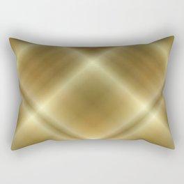 Gold Accents Rectangular Pillow