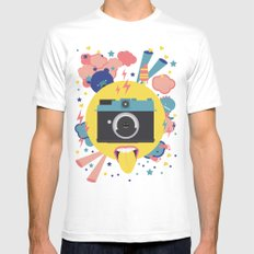 having too much fun to take pictures Mens Fitted Tee MEDIUM White