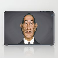 salvador dali iPad Cases featuring Celebrity Sunday ~ Salvador Dali by rob art | illustration