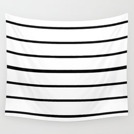 Simple Black and White Lines Decor Wall Tapestry