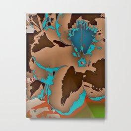 Brown Blue Azalea 1 Metal Print