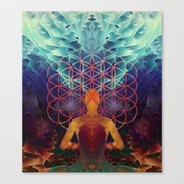 Flower Of Life (The Journey) Canvas Print