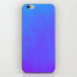 Blue and Purple Ombre - Swirly iPhone Skin