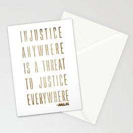 Martin Luther King Typography Quotes Stationery Cards
