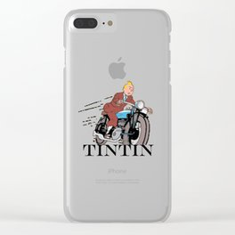 Tintin racing Clear iPhone Case
