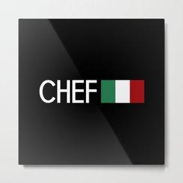 Chef (Italian Flag) Metal Print