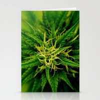 marijuana Stationery Cards featuring Marijuana by TilenHrovatic