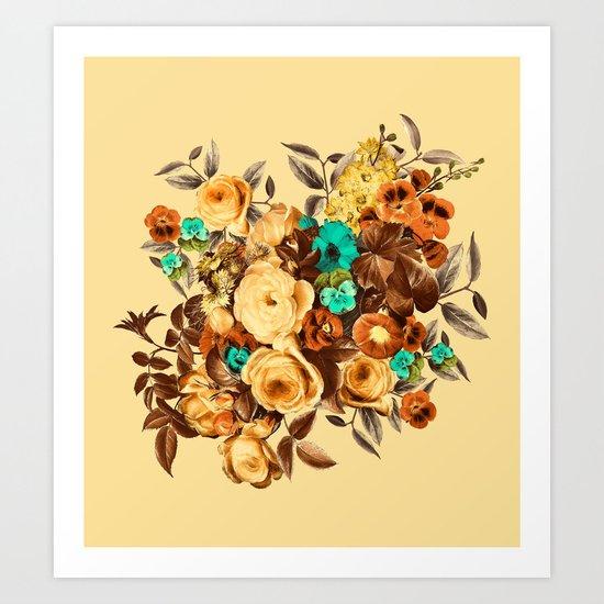 Watercolor Floral Pattern Art Print