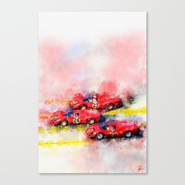 Victory Formation Daytona 1967 Canvas Print