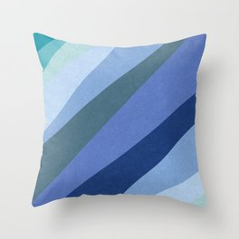 Shades of Sea Throw Pillow