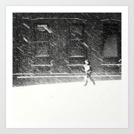 Snow Surfer Art Print