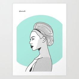 Profile B Art Print