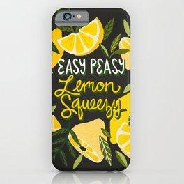 Easy Peasy Lemon Squeezy Citrus – Charcoal Palette iPhone Case