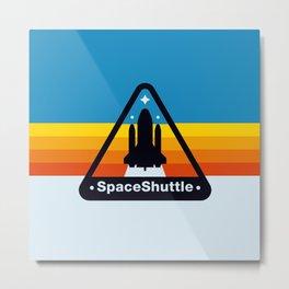 NASA Space Shuttle Badge Metal Print