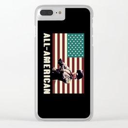 All-American Welder Clear iPhone Case