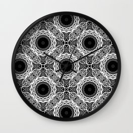 Black and white ornament . Wall Clock