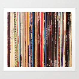 Indie Rock Vinyl Records Art Print