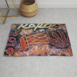 raptors 4,champion,basketball,gold,poster,wall art,2019,winners,NBA,finals,toronto,canada,painting Rug