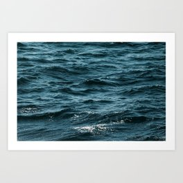 waves crushing Art Print