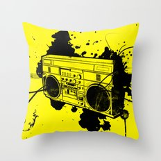 Vintage Boombox  Throw Pillow