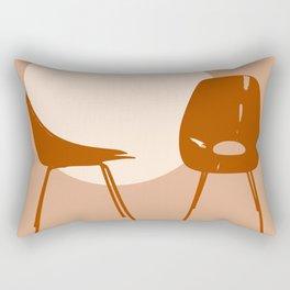 Mid-century Medea chairs Rectangular Pillow