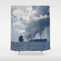 duvet cover Shower Curtains featuring AMAZING CLOUD DUVET COVER by aztosaha
