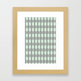 Grey and Mint Geometric Lines. Manchester Architecture Collection Framed Art Print