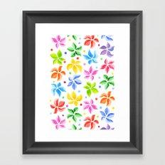 Floral Leaves Framed Art Print