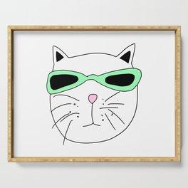 Cat Mint Sunglasses Serving Tray