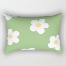Retro 60's Flower Power Print Rectangular Pillow