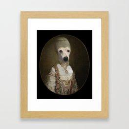 """Marie """"Chien""""toinette Framed Art Print"""