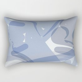 Compositon In Light Blue Rectangular Pillow