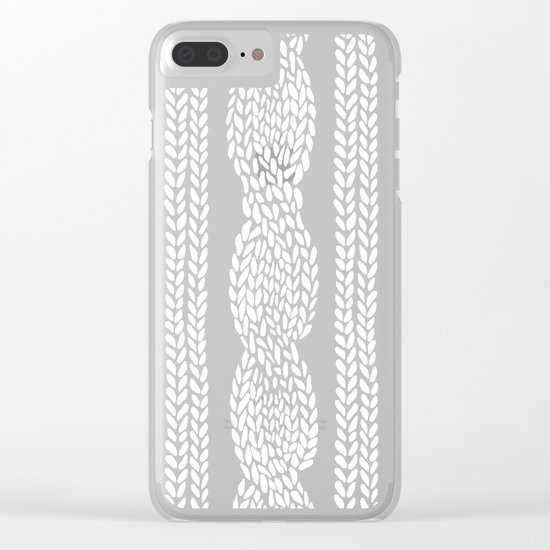 Cable Row Black Clear iPhone Case