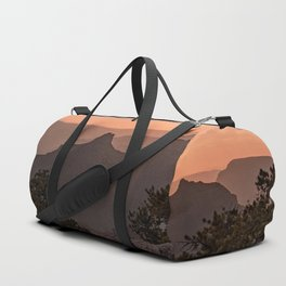 North_Rim Grand_Canyon Silhouette Sunset Duffle Bag