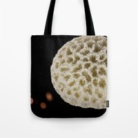 coral Tote Bags featuring Coral by Wolff Prints