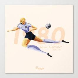 Euro History - Hrubesch 1980 Canvas Print