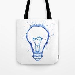 Water splash Bulb Tote Bag