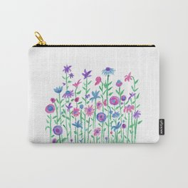 Cheerful spring flowers watercolor Carry-All Pouch