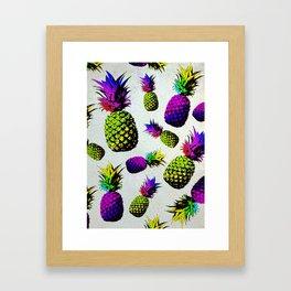 colorful pineapple pattren Framed Art Print