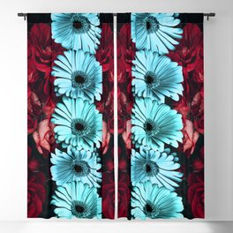 Flowers and Roses in the night | Azima Blackout Curtain
