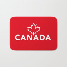 Canada with Maple Leaf Bath Mat