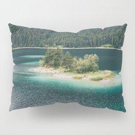 Eibsee Blue Mountain Lake Island Pillow Sham